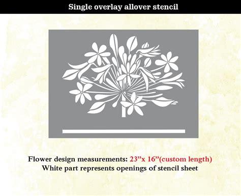 home decor stencils flower modern designer allover pattern wall stencil home