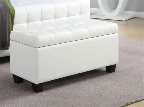 coaster storage bench coaster 500129 storage bench white 500129 at homelement com