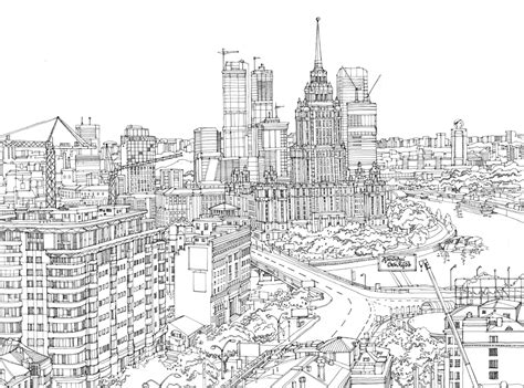 city illustration moscow