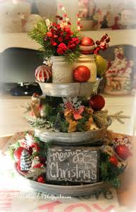Holiday Cookie Jars Priscillas Christmas Galvanized Tray Centerpiece