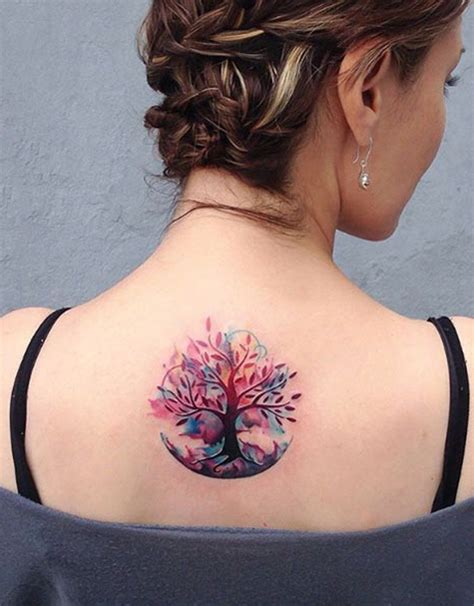 unique tattoos for women unique and cool tree of family tree watercolor