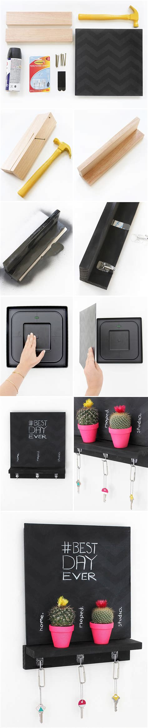 diy chalkboard holder my diy chalkboard key holder i diy bloglovin
