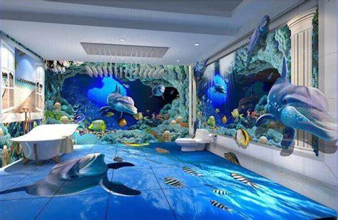 3d ocean floor designs 3d floor 3d wall show uv flatbed printer china supplier
