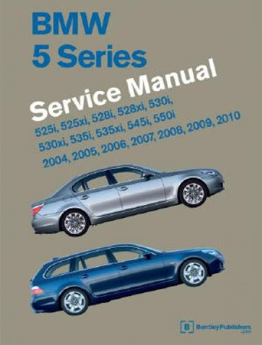 service and repair manuals 2005 bmw 5 series interior lighting bmw 5 series e60 e61 printed service manual 2004 2010 two volume set
