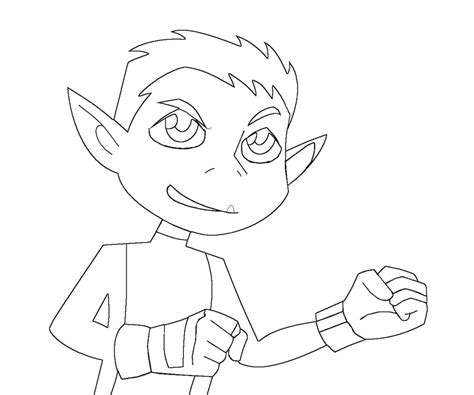 Beast Boy Free Colouring Pages Go Coloring Pages Beast Boy Free