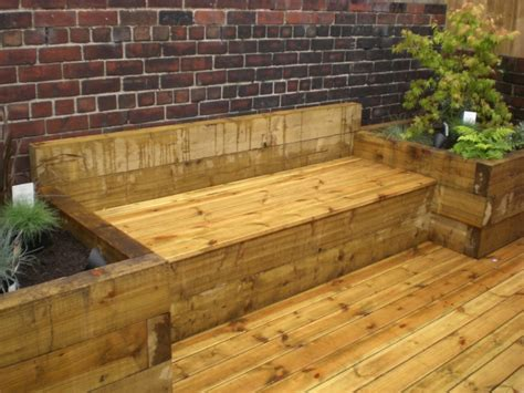 railway sleeper garden bench hardwood benches garden railway sleeper bench seat