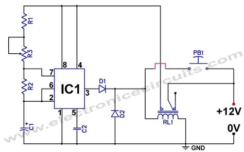 555 delay timer circuit diagram 555 low power consumption timer circuit circuit diagram world