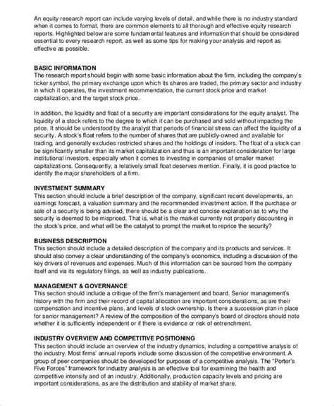 layout of a business research report 11 sle research report free sle exle format