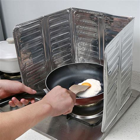 stove splash guard removable frying gas stove oil proof splash guard board