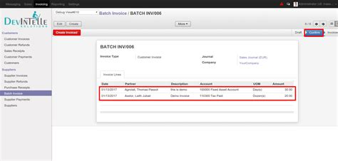 odoo design invoice batch invoice customer suppplier odoo apps