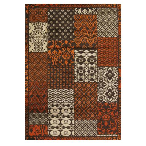 Bombay Rugs by Modern Terracotta Patchwork Rug Bombay Kukoon