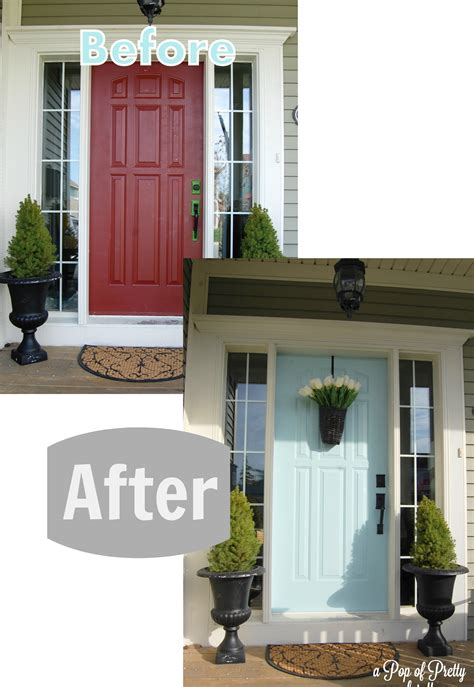 green house door color turquoise front door before after a pop of pretty