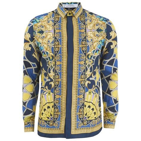 Coup Original Canda Dress versace collection s silk printed shirt blue free