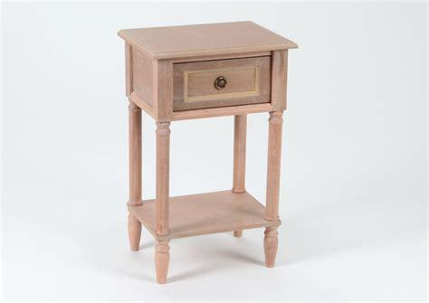 table de chevet tiroir bois naturel vieilli