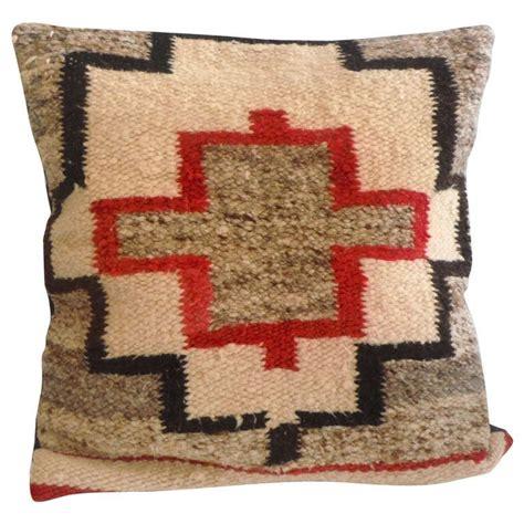 Navajo Pillows square navajo geometric saddle blanket pillow at 1stdibs