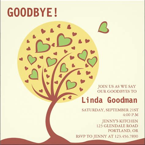 Free Goodbye Card Template by Farewell Cards Templates Images
