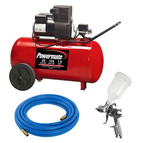 powermate 20 gal portable air compressor kit pp1982012