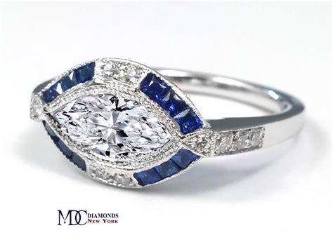 horizontal markise engagement ring horizontal marquise deco