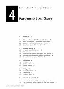 Exle Research Paper On Disorders by Post Traumatic Stress Disorder Springer