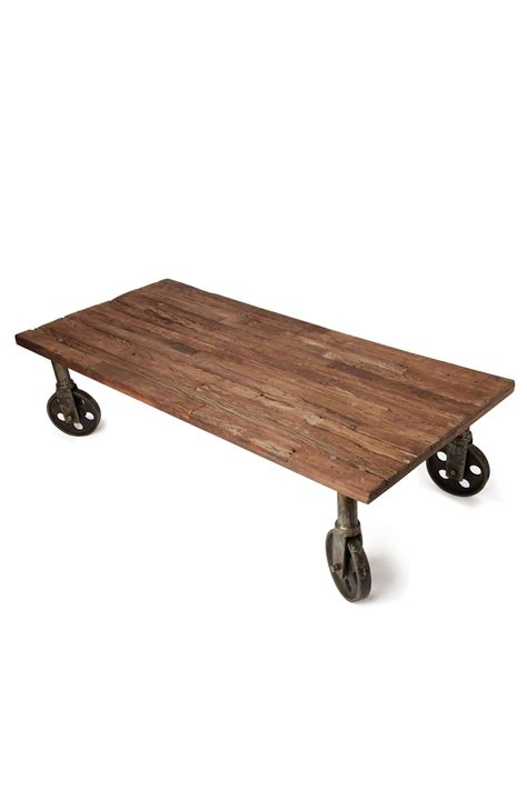 industrial coffee table with wheels memes