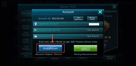 fb mobile legend cara buat akun baru di game mobile legends inwepo