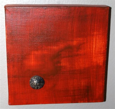 layers of acrylic paint on canvas canvas in a set of six i painted each 6x6 canvas in