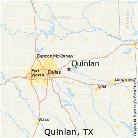 quinlan texas map best places to live in quinlan texas