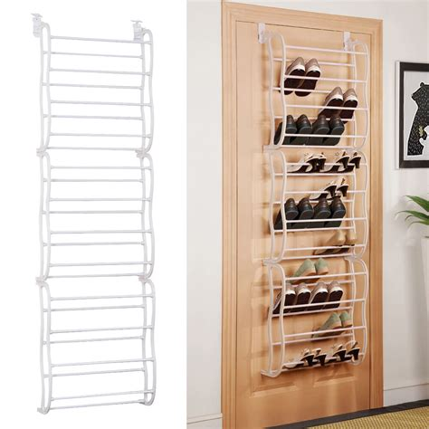 closet door organizers white 36pair the door shoe rack wall hanging closet organizer storage stand ebay