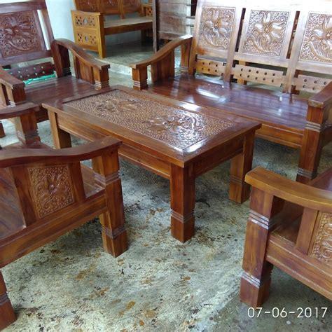 Kursi Tamu Kayu Biasa meja kursi tamu kayu jati murah bantul e grubiku