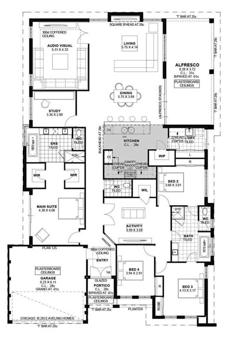 family floor plan floor plan friday family home with study