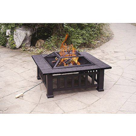 Walmart Firepit Axxonn 32 Quot Alhambra Pit With Cover Walmart