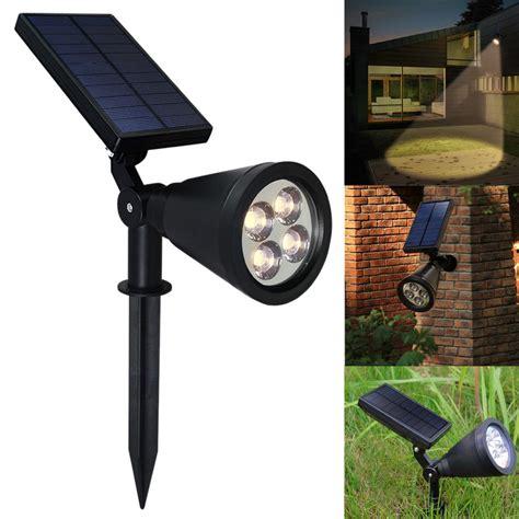 Solar Outdoor Spot Lights 4led Solar Power Garden L Spot Light Outdoor Lawn Landscape Path Spotlight Ebay