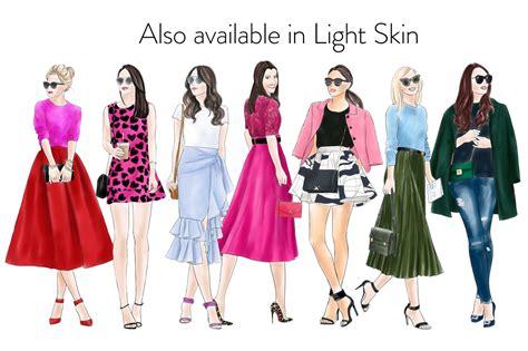 fashion clipart watercolor fashion clipart fashion 8 skin