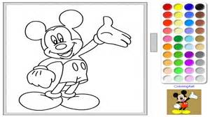 free disney mickey mouse coloring art game kids