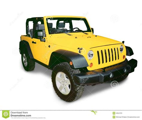 yellow jeep clipart jeep stock image image of white utility rims modern