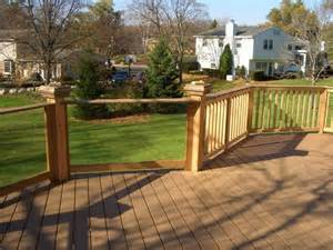deck railing glass systems deck milwaukee by