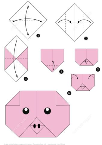 simple origami pig how to make an origami pig free