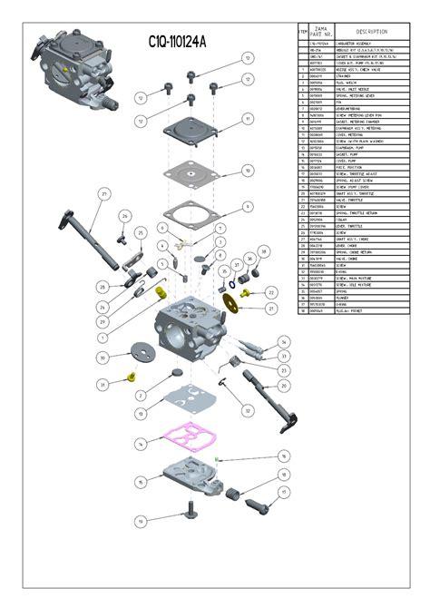 zama c1q carb diagram zama c1q carburetor kit circuit diagram maker