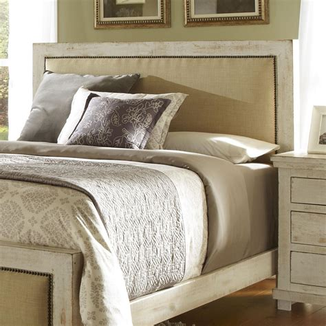 Distressed Headboard by Progressive Furniture Willow Upholstered Headboard