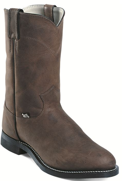 cow boots justin jb3001 cow boot 10 inch