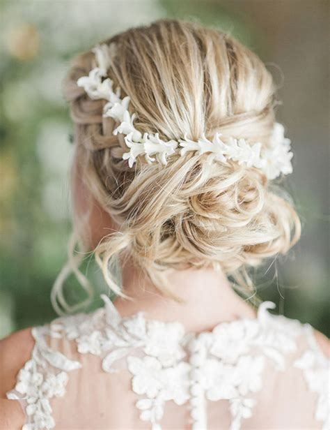 Vintage Wedding Hairstyles With Flower by Bohemian Vintage Updos Wedding Hair With Flower