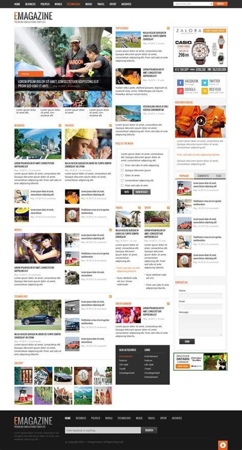 ot emagazine powerful blog magazine responsive joomla