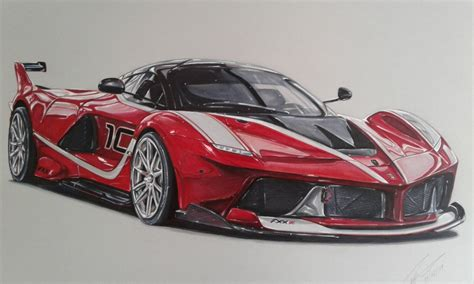 ferrari drawing how to draw a ferrari laferrari www pixshark com