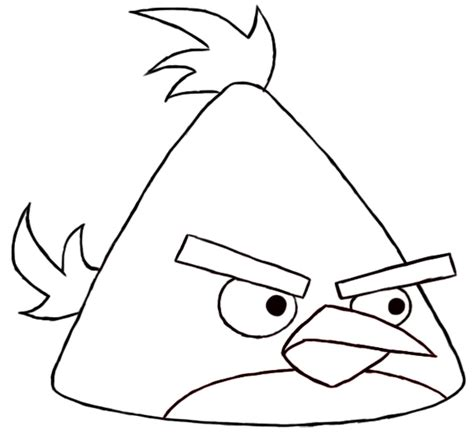 angry birds chuck coloring page angry birds chuck coloring pages coloringsuite com
