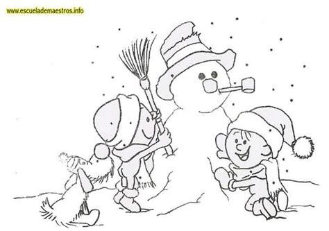 imagenes de invierno para niños para colorear mu 241 eco de nieve y ni 241 os dibujalia dibujos para