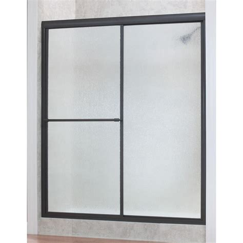 Shower Doors At Home Depot Foremost Tides 44 In To 48 In X 70 In H Framed Sliding Shower Door In Rubbed Bronze And