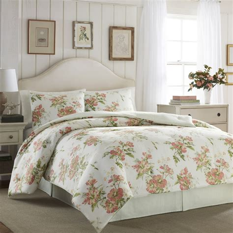 laura ashley comforter sets laura ashley spencer apricot cotton 4 piece comforter set