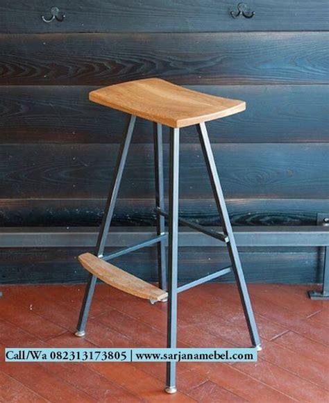 Kursi Bar Stool Besi kursi bar stool sandaran kaki sarjana mebel sarjana mebel