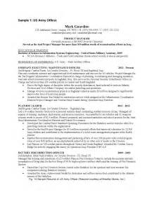 Sle Resume To Civilian by Sle Resume Resident Officer