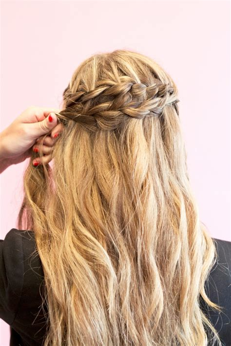 the best way to braid your hair for some straight weave sew in how to style waterfall braids fashionisers